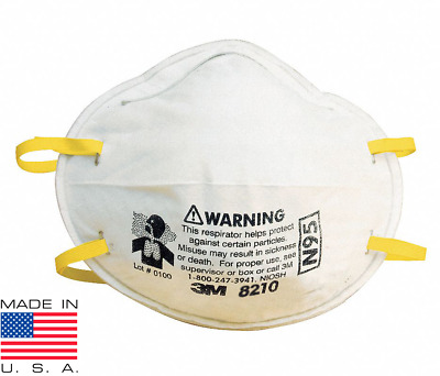 3M 8210 NIOSH Certified N95 Face Mask Particular Respirator (Pack of 5) US Made