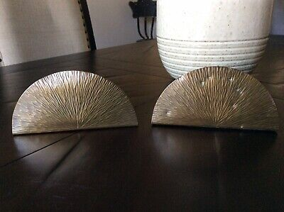 Antique Arts & Crafts Roycroft  Pine Needle Hammered Copper Bookends