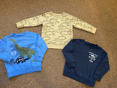 Boys Next Jumpers Bundle 3-4 Years Dinosaurs