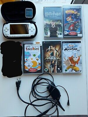 Sony PSP Play Station White Tomb Raider Loco Roco Avatar Harry Potter videogames