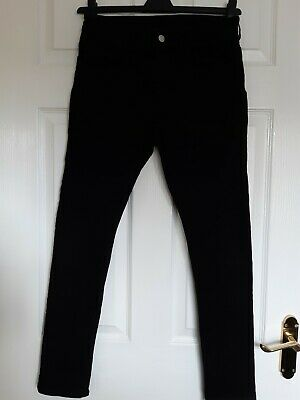 "H&M Boys Black Stretch Skinny Jeans Age 12-13 Waist 30""  Excellent Condition"