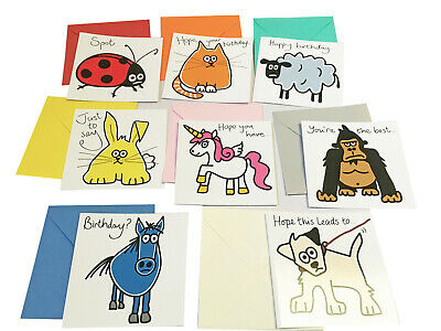 Special offer! NEW Pack of 8 Mixed Birthday cards. Coloured envelopes.