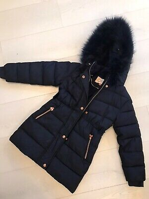 Ted baker girls Coat Age 8 Navy Excellent Condition