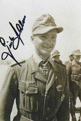 Afrika Korp Youngest Knights Cross At 19  Gunther Halm   Signed Photo