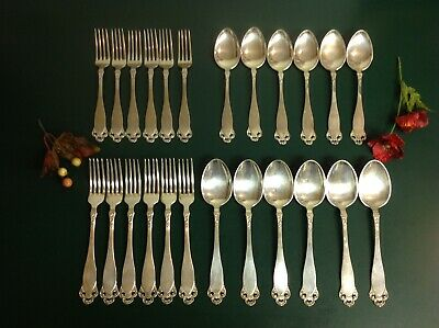 Brodrene Lohne LAILA Norway Flatware Set Of 24 Pieces 830s Fine Silverware