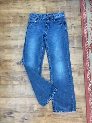 Gap Kids Straight Fit Blue Denim Jeans - Age 14 -Inside Leg 28 1/2 In See Photos