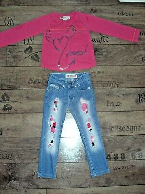 Girls Diesel outfit, top and jeans size 2 years