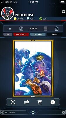 2019 COMIC BOOK DAY OCT 23 GOLD IMMORTAL HULK #25 Topps Marvel Collect Digital