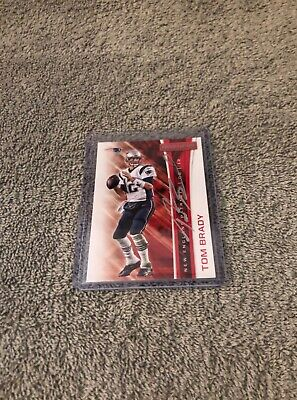 Tom Brady Hand Signed New England Patriots Football Card
