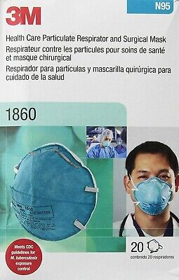 3M 1860 N95 REGULAR Health Care Particulate Surgical Mask 20pcs  EXP 2025