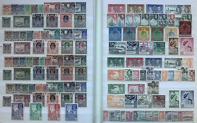 Quality Stockbook Collection Of Mint Kgvi Kg6 Commonwealth Stamps In Sets