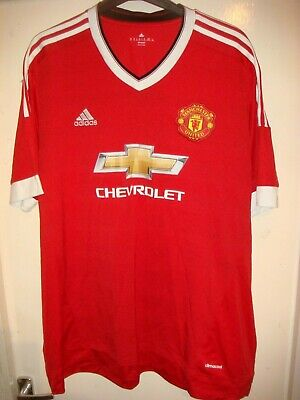 MANCHESTER UNITED HOME Football Shirt - MAN UTD- 2015/16 - XXXL 3XL ADULT- X21