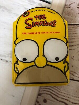 The Simpsons - Complete Sixth Season 6 Six DVD 4 Disc Set Collector's Edition