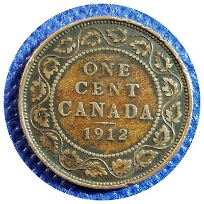 💰 1912 Canada Large One Cent Coin (95% Copper) - King George V #32
