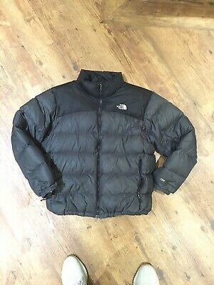 The North Face Nuptse 700 Down Feather Jacket XL Grey Black