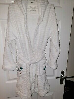 Next Girls Fluffy Dressing Gown Aged 9-10yrs