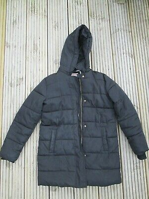 MARKS & SPENCER Girls Black Fleece Lined Warm Winter Coat  Age 11-12 Years
