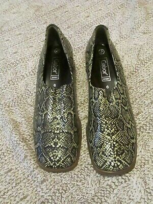 GABOR Sport Beautiful Quality Snake Skin Leather Slip On Shoes  UK6  T