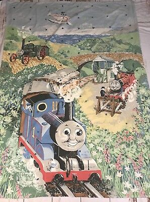 "Vintage Thomas the Train Quilt Kids Baby Blanket Handmade Quilt 74"" X 50"""