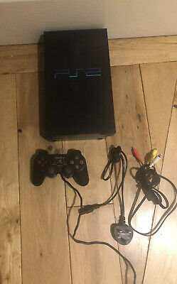 Sony Playstation 2 Console - PS2 - Black With Official Ps2 Controller & Cables