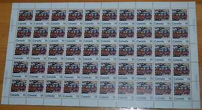 Weeda Canada 617 VF MNH unfolded pane of 50, 15c 1973 issue CV $45.90