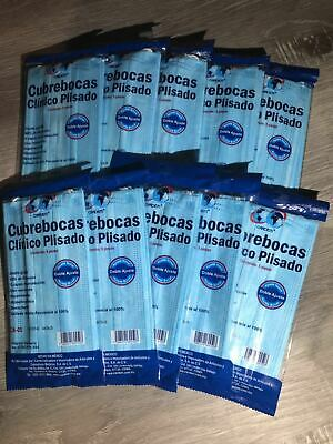 50pc Disposable Blue Medical Dental Industry Dust Proof Face Mask Respirator