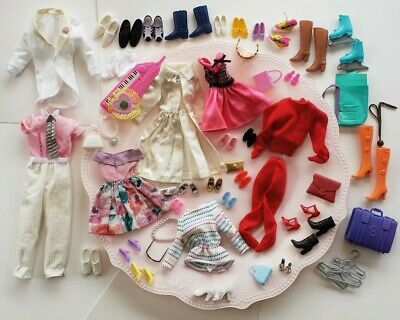Ken and barbie clothes & shoes w/ some black tags + accessories  lot