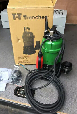 Industrial Submersible Water Pump TT Trencher T400F 230v Auto PH/T400/230VF