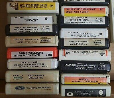 Lot Of 30 Assorted Easy Listening 8-Track Tapes *Untested* Sold As Is