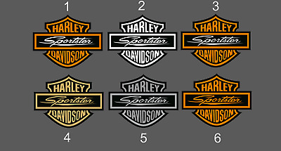 2X HARLEY DAVIDSON SPORTSTER  Bar & Shield High Quality Stickers Decals ANY SIZE