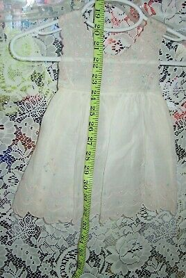 antique organdy small summer dress/pinafore, so lovely! embrodiary,all hand sewn