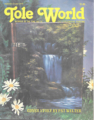 Tole World Magazine September/October 1979 Fine Art Decorative Painting Waterfal
