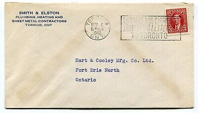 Canada ONT Ontario - Toronto 1940 TRAVELLING LETTER BOX - Carried Cover -