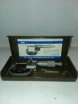 Nsk 0-1 Inch Digital  Micrometer .0001 Grads Ratchet Stop Lock Spindle  W/Case