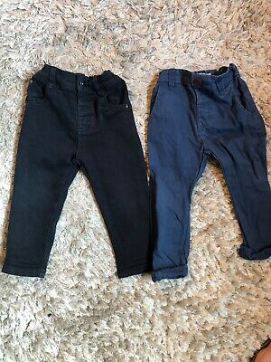 Boys Next Black Skinny Jeans And Navy Slim Fit Chinos. Both Size 1.5-2 Yrs