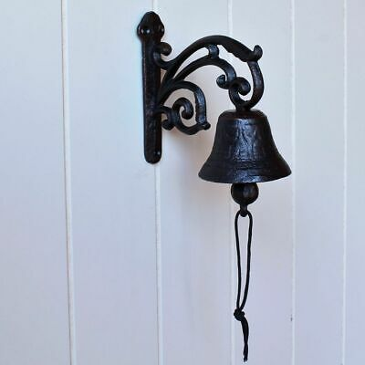 Cast Iron Decorative French Scroll Doorbell Coat Hat Wall Hanging