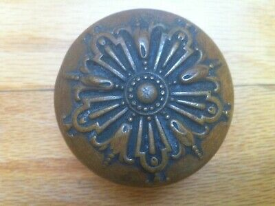 Antique Brass Entrance Doorknob Made By Barrows,Ontario Pattern, Blumin  I -103