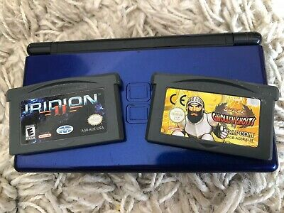 Nintendo DS Lite With Charger And 2 Game Boy Advance GBA Games