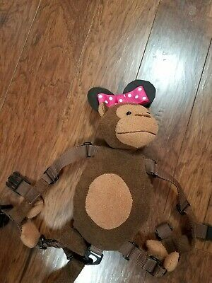 Gold Bug Monkey Minnie Mouse Disney Harness Backpack Tether/Leash Child Safety
