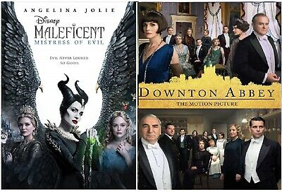 Maleficent: Mistress of Evil & Dowton Abbey (DVD 2019) Set of 2 Great Movies!