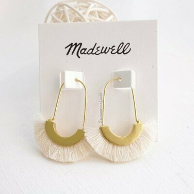 Madewell Arc Wire Fringe Earrings - Gold-plated brass earwires - NWT