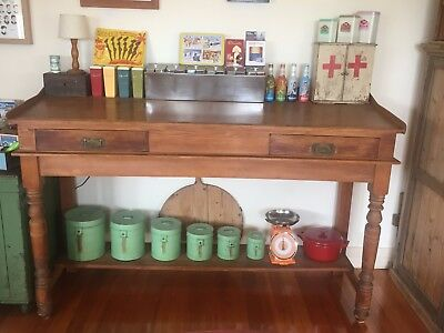 Huge Antique Kauri Pine Clerk's Desk Timber Wooden From Old Wool Stores