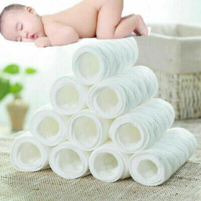 10 pcs reusable baby cloth soft diaper insert 3 layers washable cotton baby care