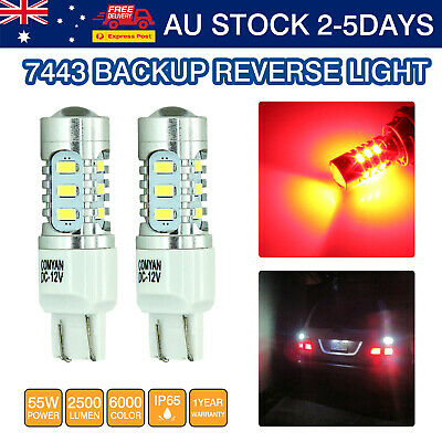 2x T20 7443 7440 LED  CAR BRAKE STOP TURN SIGNAL Parking LIGHT RED FORD Falcon