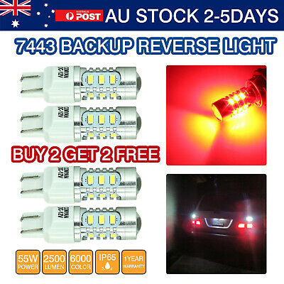 4x T20 7443 7440 LED  CAR BRAKE STOP TURN SIGNAL Parking LIGHT RED FORD Falcon