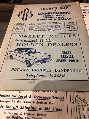 PRS Map Of Dandenong Vintage Great Advertising