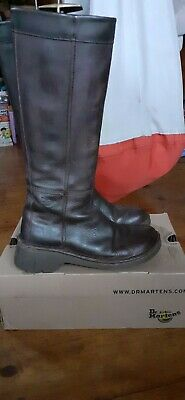 VintageDoc/Dr Martens2817 Quality Leather Dark Tan Boots Made In England uk5eu38