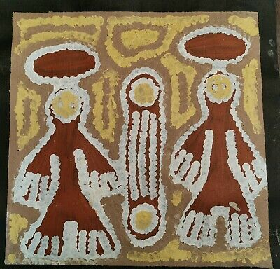 LINDA SYDDICK , Highly Collectable Aboriginal Art, 35x 35cm. Witch Doctor