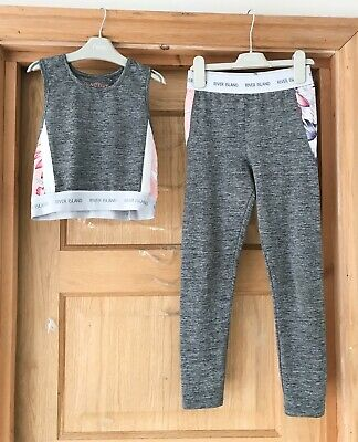 RIVER ISLAND *9-10y LEGGINGS Cropped TOP - Dance Sports Gym Party 9-10 YEARS