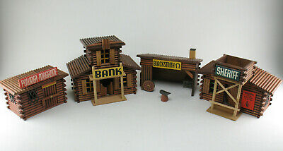 OEHME & SÖHNE - Bank, Powder Magazine,Sheriff, Blacksmith -DDR Holz Western Haus